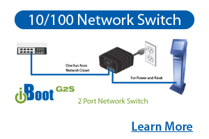 iBoot Features - Integrated 10/100 Network Switch