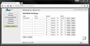 iBoot-G2 Screenshot: Status